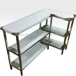Stainless Steel L Shape 3 Tier Table