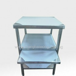 3 Tier Table W Pull Out Shelf