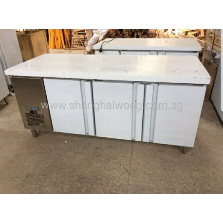 Stainless Steel 3 Door Undercounter Fridge