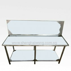 Stainless Steel Cooking Table With Drainage